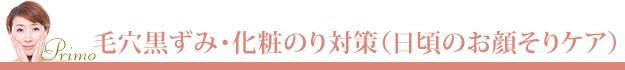 毛穴黒ずみ・化粧のり対策日頃のお顔そりシェービングメニュー「おためしコース」3,000円のサービス概要と料金の項目タイトルバナー